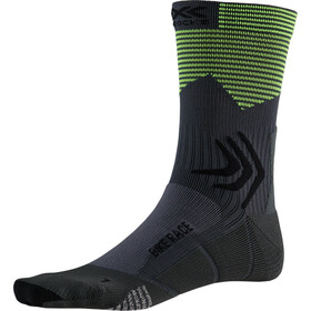 X-Socks Bike Race Calze, charcoal /phyton yellow